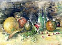Still Life With Fruits - Watercolor Painting