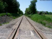 Vanishing Point On Railroad Track