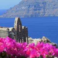 Santorini Flower Bed Art Prints & Posters by Joseph Meyer