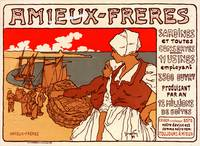 Vintage Poster for les Sardines Amieux. Georges Fa
