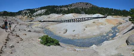 Bumpass Hell Trail & Boardwalk Panorama