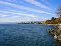 Lausanne Coast on Lake Geneva