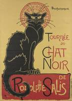 Poster for the tour of Le Chat Noir Théophile Alex
