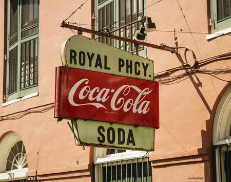 New Orleans Royal Pharmacy Sign