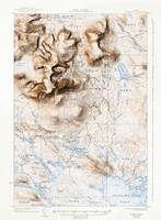 Mount Katahdin, Maine (1930) with map border