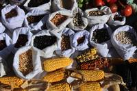 Corn and Beans at the Market