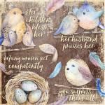 Virtuous Woman (Bird Quad) Prints & Posters