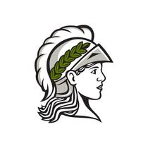 Minerva Head Side Profile Retro