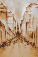 Old Philadelphia 1920 - Fine Art Drawing