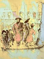 New York City Jews - Fine Art Drawing