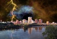 Stormy Richmond Skyline