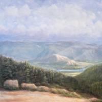Teton Valley Overlook-circa 1974 by Sandy Mauck