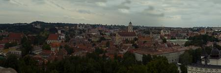 View from Upper Castle Vilnius to Old Town