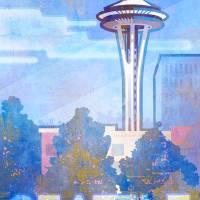 Seattle scene by Greg Simanson