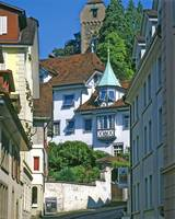 Luzern Street in Summer 3 by Priscilla Turner