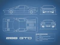 Ferrari 288 GTO Blueprint