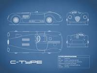 Jaguar C-Type Blueprint