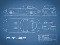Jaguar E-Type Blueprint