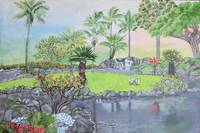 Tropical Landscape Painting  Kauai Hawaii