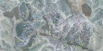 Cottonwood Canyons Resorts Trail Map by Matt Liapis on