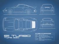 911-Turbo 1977 Blueprint
