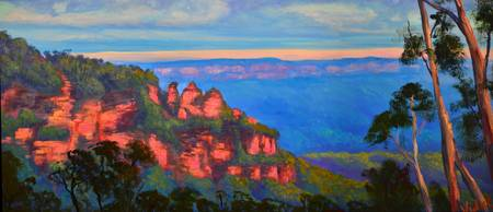Last lights Three Sisters, Katoomba