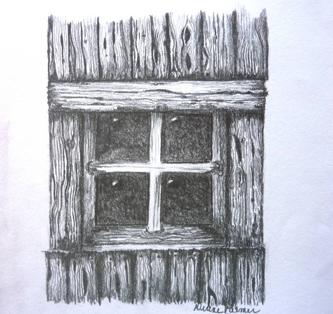 Old Barn Window Drawing By DianePalmerArt 2015