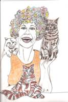 re sized wacky cat lady