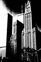 Woolworth Building New York - Ink Drawing