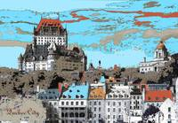 Quebec City Canada - Digital Artwork
