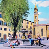 Piazza Santo Spirito Art Prints & Posters by Matthew Bates