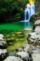 Sum Waterfall in Vintgar Gorge, near Bled, Sloveni