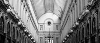 Brussels Shopping Gallery - Black and White by Carol Groenen