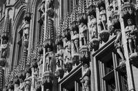 Brussels Gothic - Black and White by Carol Groenen