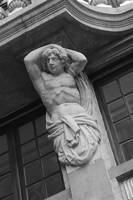 Brussels Strong Man - Black and White by Carol Groenen