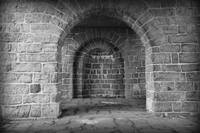 Akerhus Arches with Vignette - Black and White by Carol Groenen