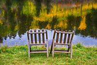 Autumn Season Romantic Lake View For Two