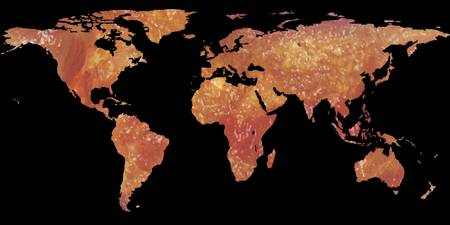 World Map Silhouette - Crispy Bacon