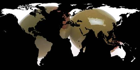 World Map Silhouette - Martini Olives