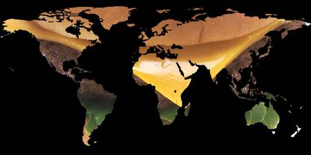 World Map Silhouette - Cheeseburger