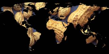 World Map Silhouette - Peanuts