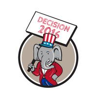 Republican Elephant Mascot Decision 2016 Circle Ca