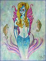 Mermaid and Seahorses