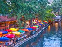 Evening on the Riverwalk in San Antonio