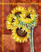 Decorative Sunflowers Painting