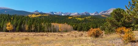 Rocky Mountain Front Range Autumn Panorama