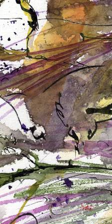 Abstract Modern Organic Watercolor and Ink 3