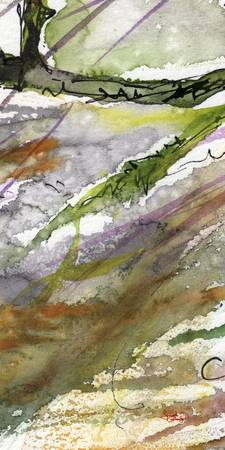 Abstract Modern Organic Watercolor and Ink 4