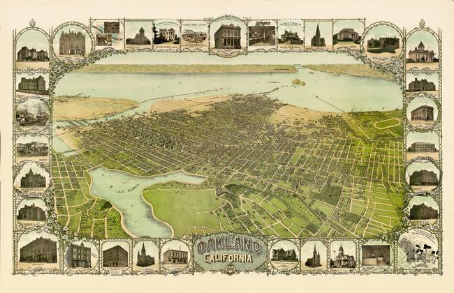 Birds Eye View of Oakland 1900