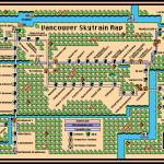 Vancouver Skytrain Map Prints & Posters